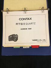 Genuine OEM Contax RTS II Quartz, 137 MD & 139 Quartz Assembling Charts Great A+
