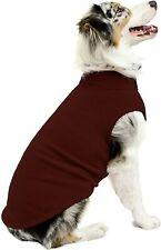 New listing Gooby Stretch Fleece Dog Vest Pullover Fleece Dog Sweater Brown 5X New 🔥