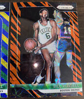 2018-19 Panini Prizm Choice Tiger Stripe Bill Russell SSP + BGY Boston Celtics!