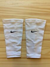 Nike Soccer Shinguards Compression Sleeves, White, Adult Xl