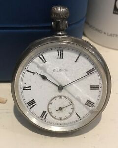Elgin HM Silver Pocket Watch