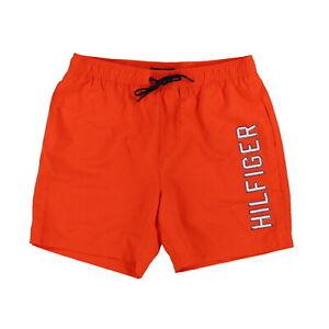 Tommy Hilfiger Mens Swim Trunks Bathing Suit Bottoms 7 Inch Flag Logo Swimwear