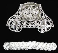 NEW Silver Flip Top CARRIAGE ARRAS Rhinestone Wedding 13 Unity Coins De Boda