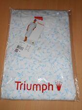 chemise de nuit manches courtes TRIUMPH blanc imprimé feuillage taille 42 -neuve