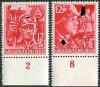 DR Nr. 909 - 910 UR ** Unterrand postfrisch LUXUS SA SS WW II German Army MNH