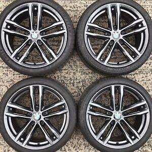 Set Genuine BMW 19 3 4 Series Alloy Wheels F30 F31 F32 E90 Tyres 225 255 E91 704