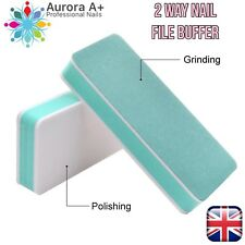 1pc NAIL FILE SHINING BUFFER 2 WAY Polishing Block Smooth Shine Buff Nails UK