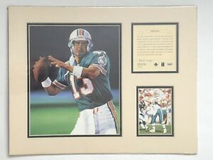 1995 Dan Marino Miami Dolphins Matted Kelly Russell Lithograph Art Print #327