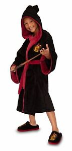 Harry Potter Gryffindor House Kids Unisex Hooded Dressing Gown Robe