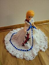 Lovely Hand Crocheted Doll Dress And Doll With Closinge Eyes
