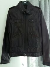 Next brown leather jacket size 18T BNWT