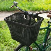 Black Bike Basket Waterproof Bicycle Front Handlebar Basket Bicycle Accessory