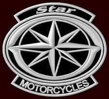 "YAMAHA STAR MOTORCYCLES EMBROIDERED PATCH ~4""x 3-1/2""  XVS 650 DRAG CRUISER BIKE"