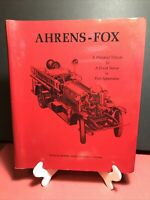 Ahrens-Fox: Pictorial Tribute to Fire Apparatus Sams & Sytsma Spiralbound 1971
