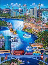America Niagara Falls New York United States Travel Advertisement Art Poster