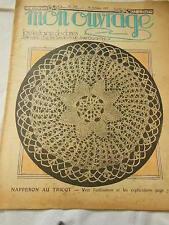 MON OUVRAGE  1937 n°352 parure lingerie tissage tapisserie fond de plateau