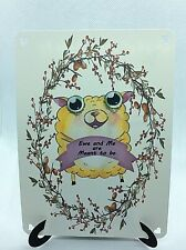 Ewe & me Cute sheep Easel Card Sentiment Romantic Love Meant To Be You And Me