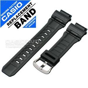 Genuine Casio Black Rubber Watch Band Strap for G-Shock Mudman G-9300 G9300-1