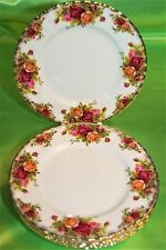 PIATTO DOLCE TORTA FRUTTA D20,5CM  ROYAL ALBERT OLD COUNTRY ROSES ENGLAND (380)