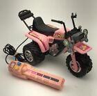 1985 Remote Control Arco RC (Barbie size) Pink Plastic 3 Wheeler ATV 80's *READ