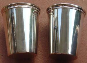 Vintage William Wm Rogers Tumbler Cup Lot Silverplate Mint Julep ?