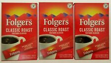 3 BOXES Folgers Classic Roast Instant Coffee Single Serve Packets