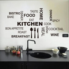 Kitchen Words Quote Wall Stickers Vinyl Art Mural Decal Removable Home Decor DIY