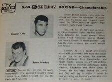 1966 OHIO TV GUIDE~CASSIUS CLAY~WILD WILD WEST~PERNELL ROBERTS~FRED ANTHONY WSEE