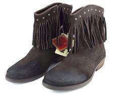 REPLAY LANCASTER Damen Leder Mädchen Schuhe Stiefel Woman Boots Braun NEU