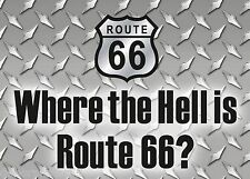 ROUTE 66 Sign Funny Garage Tool Box Fridge Magnet  Metal Tin Sign MAGNET 8.8x9cm