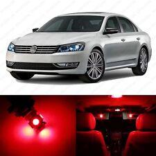 13 x Brilliant Red LED Interior Light Package For 2012 - 2013 VW Passat B7