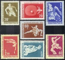 Hungary 1958 Sports/Games/Table Tennis/Wrestling/Swimming/Diving 7v set (n39926)