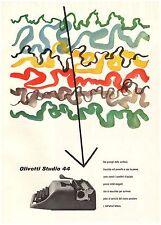 PUBBLICITA'1954 OLIVETTI STUDIO 44 PORTATILE COLORI PINTORI MACCHINA DA SCRIVERE