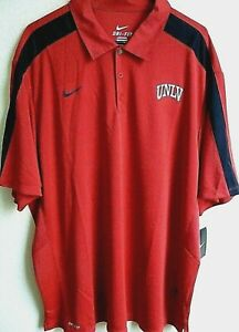 NCAA Nike DRI-FIT UNLV Runnin' Rebels Football Polo Shirt XXL NWT 443208