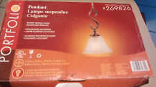 Portfolio Pendant Lamp- Russet Bronze Finish, Adjustable #269826.  New/Open Box.
