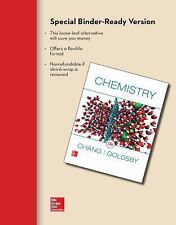Loose Leaf for Chemistry by Raymond Chang. (Binder Included)