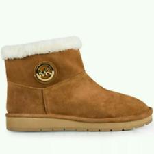 Michael Kors Women Winter Ankle Boots Booties Shoes Brown Walnut Size 11M NIB