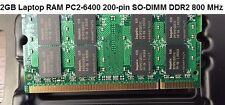 2GB DDR2 RAM PC2-6400 200-pin SO-DIMM 800 MHz | Branded Laptop Memory
