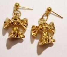 boucles d'oreilles percées tombante eléphant 3D bijou couleur or fillette * 3482