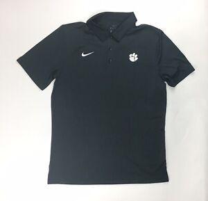 Nike Clemson Tigers Team Training Dri-FIT Short Sleeve Polo Men's M Black CD7068