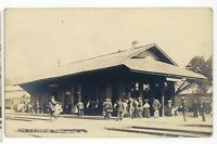 RPPC LVRR Lehigh Valley Railroad Station TUNKHANNOCK PA Real Photo Postcard 1