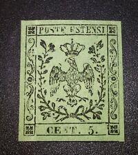 Modena 1852 5 cent con punto n.8 nuovo ** mnh