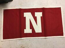 Vintage NOS University Of Nebraska Wool Banner Pennant Made In The USA