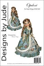 Opulent Gown Pattern for 46cm Kaye Wiggs Msd Bjd dolls