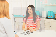 Sneeze Guard, Acrylic Plexiglass Barrier, Office, Counter, Retail, Desktop