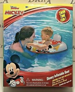 Disney Junior's Mickey Mouse Inflatable Boat  - Up to 61 pounds and 18 Months+