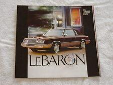 NOS 1983 Chrysler LeBaron Series Color Car Automobile Brochure MINT Condition