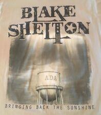 BLAKE SHELTON BRINGING BACK THE SUNSHINE LARGE BEIGE CONCERT T-SHIRT SHIPS FREE