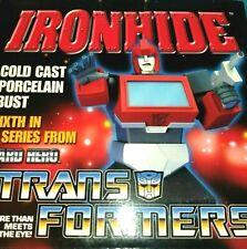 Ironhide Transformers Cold Cast Porcelain Bust  Hard Hero NIB