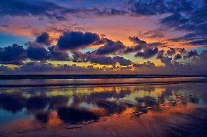A2 Australia sunset sunrise beach ocean print landscape ocean art